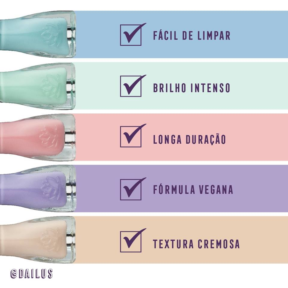 dailus califórnia ice cream cinco cores